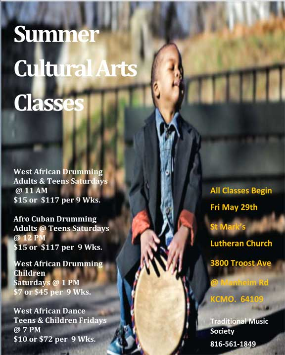 Traditional Music Society Summer Cultural Arts Classes